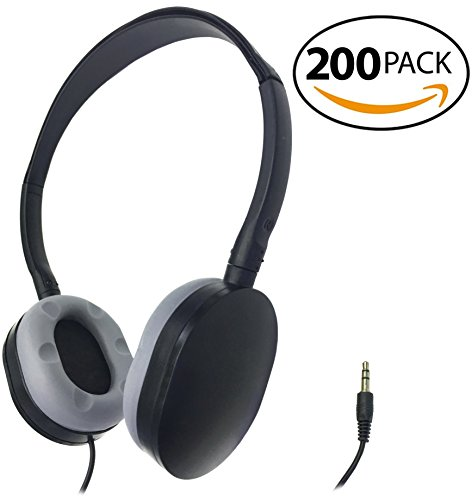 SmithOutlet 200 Pack Rubber Earpad Stereo Headphones in Bulk by SmithOutlet