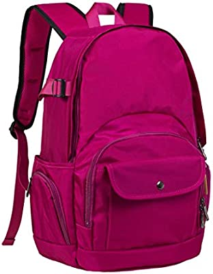 14-inch Fashion Computer Backpack MJCBJBB Computer Backpack Soft Leisure Travel Bag for Men and Women Color : Pink, Size : 14