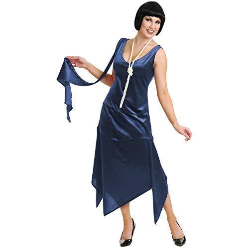 Forum Novelties Sandy Speak Easy Flapper Costume - Plus Size 3X - Dress Size 26-30 Dark Blue -