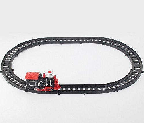 Haktoys Express Classic Train Playset with LED Headlight and Train Sound | Battery Operated Railway 25