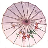 Asian Japanese Chinese Umbrella Parasol 32in Pink 156-1 by JapanBargain