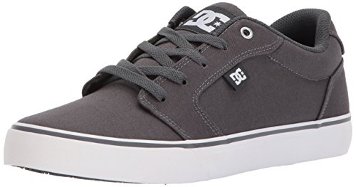 DC Men's Anvil TX Skate Shoe, Dark Shadow/Armor, 12 D US