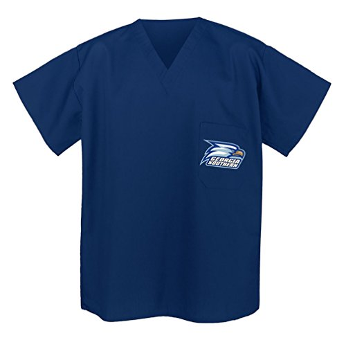 (Official Georgia Southern Shirts Scrubs GSU for Men or Ladies Med)