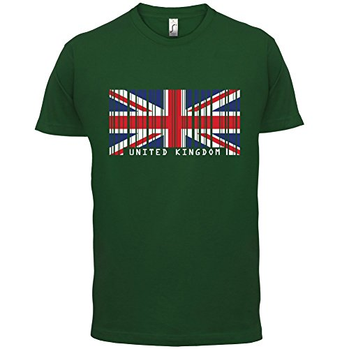 United Kingdom / Vereinigtes Königreich Barcode Flagge - Herren T-Shirt - Flaschengrün - L