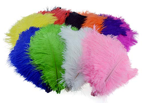 Wowlife Set of 50, 15-20cm Real Natural White Home Decor Ostrich Feathers Party Wedding Decorations Feather
