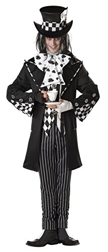 Dark Mad Hatter Costume - X-Large - Chest Size 44-46 ()