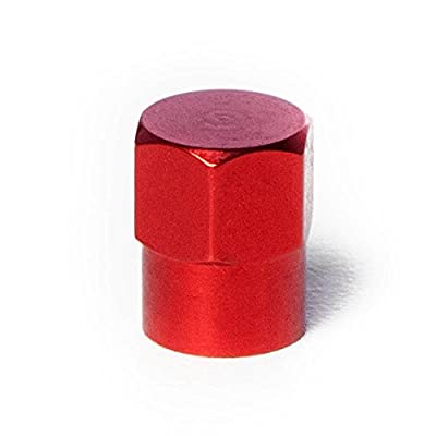 Circuit Performance VC3 Series Red Aluminum Valve Stem Caps (Set of 4): Automotive