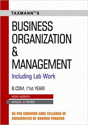 Buy Business Organization And Management B Com Ist Year B Com