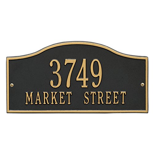 2 Lines Rolling Address Plaque 15''L x 8''H by Whitehall (Image #1)