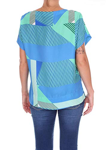 5044c3a73 verde Z1tpbtfc1 Claro Caliban Algodon shirt Mujer Azul T IOqC7w
