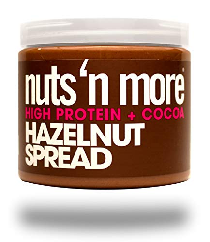 Nuts 'N More Hazelnut Cocoa Spread, High Protein, Great Tasting, All Natural Sports Nutrition, 16 oz Jar made in Rhode Island