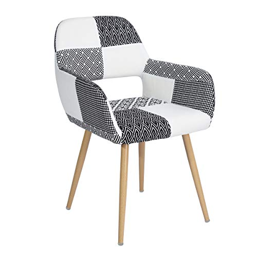 Used, HOMY CASA Dining Chair Wood Legs Fabric Cushion Seat for sale  Delivered anywhere in Canada