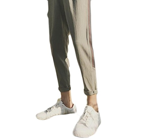 neveraway Mens All-Match Thin Stretch Summer Casual Student