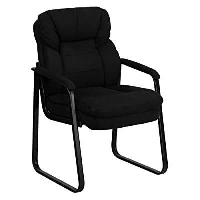 Flash Furniture Black Microfiber Executive Side Chair with Sled Base by Flash Furniture