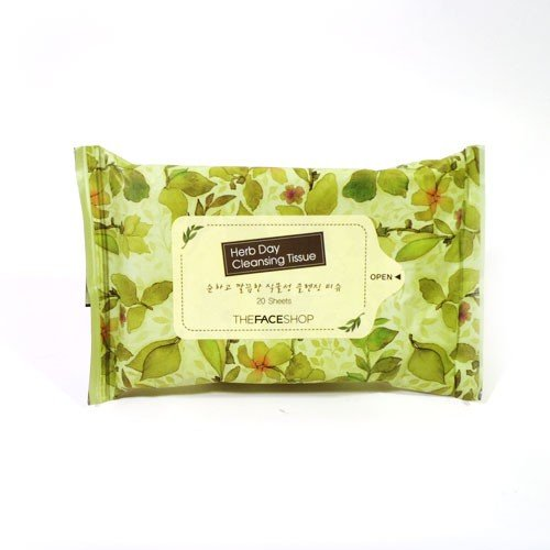 The-Face-Shop-Herb-Day-Cleansing-Tissue-20-Sheets