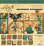 Graphic 45 12-Inch by 12-Inch Steampunk Debutante Double-Sided Paper Pad