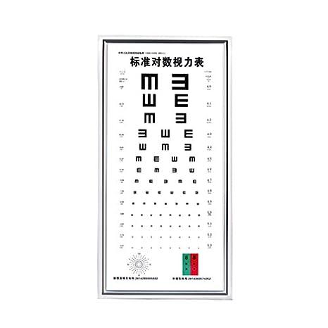 Hanchen LY-21B - Tabla de agudeza visual logarítmica (ultrafina, multifunción, 5 m, con caja de luz LED, para oftalmólogo de optometría, LY-23C, 1