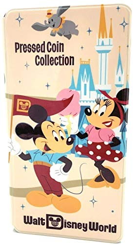 Walt Disney World Pressed Penny Book Coin Holder Collection Album - Mickey Mouse and Friends