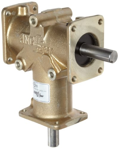 Andantex R3330-2 Anglgear Right Angle Bevel Gear Drive, Universal Mounting, Single Output Shaft, 3 Flange, Inch, 3/4