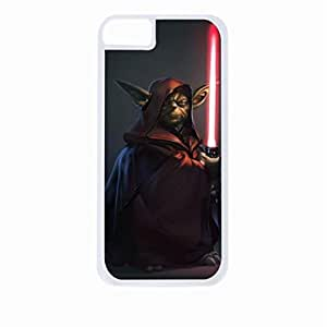 Yoda Hard White Plastic Snap - On Case-Apple Iphone 6 Only - Great Quality!