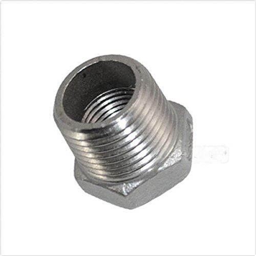 1/4'' Male x 1/8'' Female Thread Reducer Bushing Pipe Fitting SS 304 NPT Metal CN