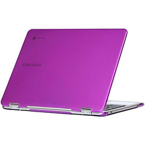 iPearl mCover Hard Shell Case for 12.3 Samsung Chromebook Plus XE513C24 Series (NOT Compatible with Older XE303C12 / XE500C12 / XE503C12 Models) Laptop - Chromebook Plus XE513C24 (Purple)