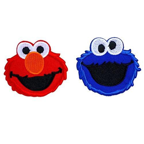 Cookie Monster Sesame Street Elmo Cartoon Iron on Patch Logo Fabric Applique ()