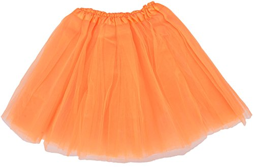 Simplicity 3 Layered Ballerina Tutu W/ Stretch Waist, Tulle Fibers, Orange (Dance Costumes On Line)