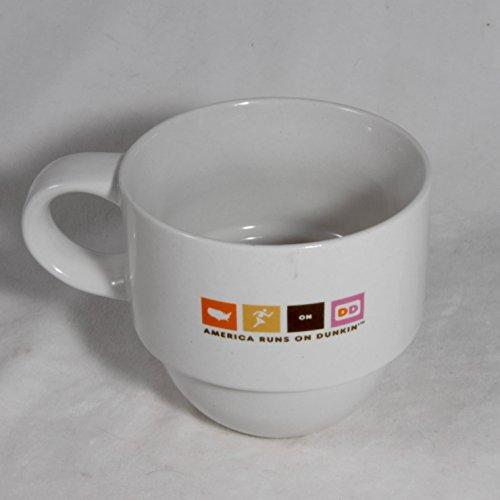 2007 Ceramic Mug - Dunkin Donuts 2007 Ceramic Coffee Mug 12 oz. America Runs on Dunkin