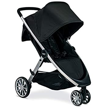 Image of Britax B-Lively Lightweight Stroller - Up to 55 pounds - Car Seat Compatible - UV 50Plus Canopy - Easy Fold, Raven Baby
