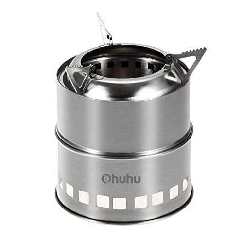 Ohuhu Portable Stainless Burning Camping