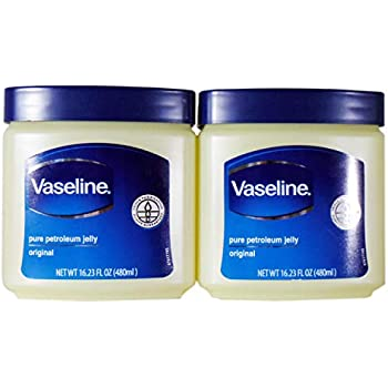 Vaseline Pure Petroleum Jelly, Original 16.23 Oz (2 Pack)