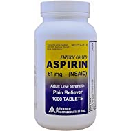 Aspirin Adult Low Dose Enteric Coated 81 mg Generic for Bayer Aspirin Low Dose 1000 Tablets Per Bottle