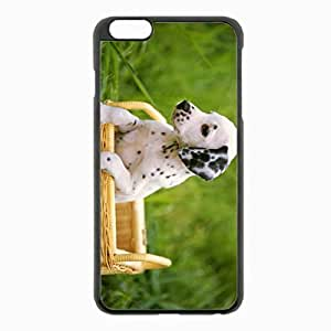 iPhone 6 Plus Black Hardshell Case 5.5inch - dalmatian dog sit Desin Images Protector Back Cover