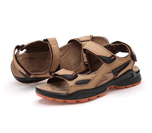 Scarpe di Moda Brown Uomo Shoes Outdoor da Beach Ritaglio Sandals tBwfBqa7