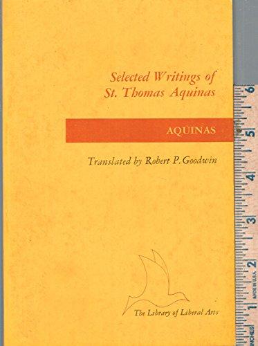 the writings of thomas aquinas essay Review of basic writings of saint thomas aquinas, ed anton c pegis, social research, vol 13, no 2 (june 1946) reprinted in.