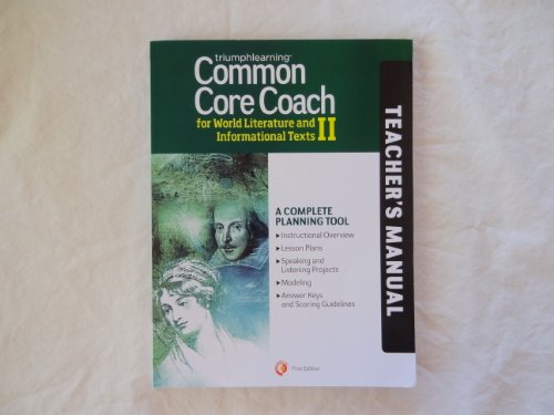 Common Core Coach for World Literature and Informational Texts II, Teacher's Manual