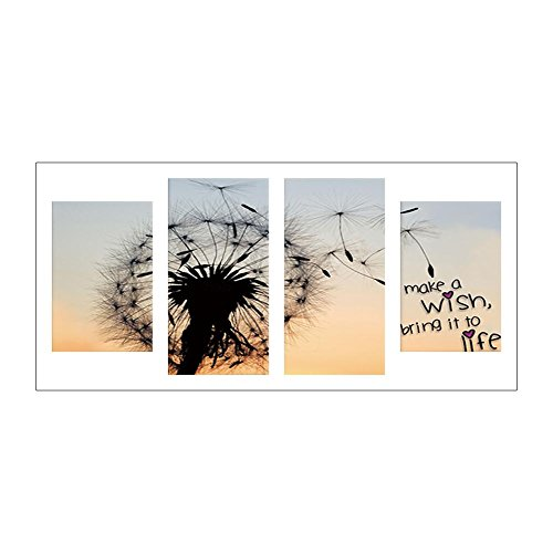 Awakingdemi Dandelion 5D DIY Full Drill Diamond Painting 4-Pictures Combination Crafts -