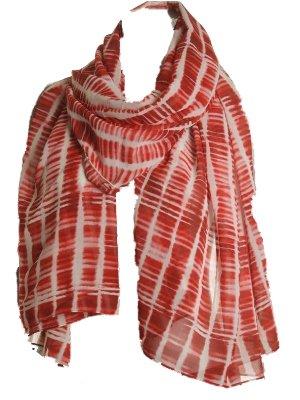 Calvin Klein Women's Convertible Scarf Wrap Red