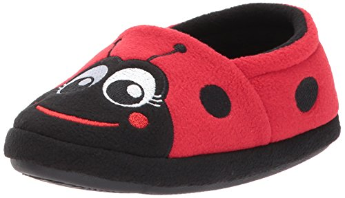 Plush Little Ladybug (Western Chief Kids Warm and Cozy Slipper, Lucy The Ladybug, 11 M US Little Kid)