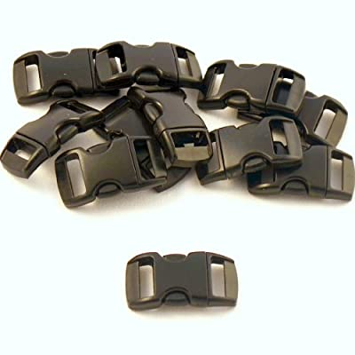 """50 Count 3/8 """" Black Paracord Buckles from Perpetual Revolution, Rated to 10kg (22 lbs)"""