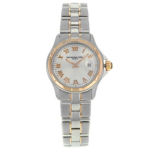 Raymond Weil Parsifal Silver Dial Stainless Steel And 18kt Pink Gold Ladies Watch 9460-SG5-00658