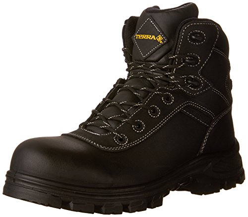 Kodiak Steel Toe Shoes - Terra Men's Quinton Military & Tactical Boot, Black, 11 M US