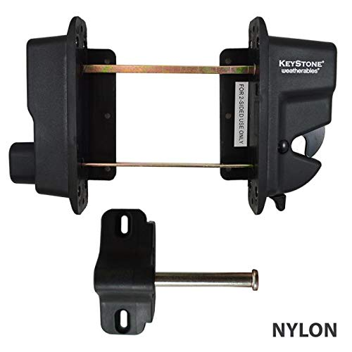 Keystone Black Nylon Polymer Key-Lockable Latch | 2 Sided | Keyed Alike | KLADV-P2-BK-KA