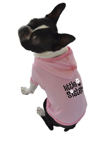 Ruff Ruff and Meow Dog Hoodie, Little Sister, Pink, Small by Ruff Ruff and Meow