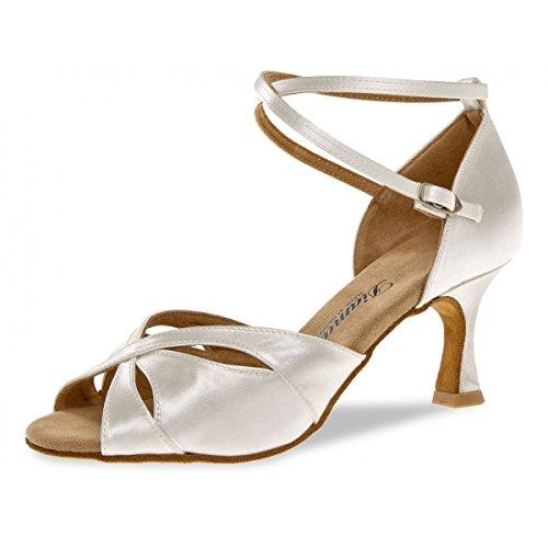 092 Diamant 5 087 Blanc 141 Femmes cm Danse 6 Chaussures Satin de Flare rYxSWF4Ywq