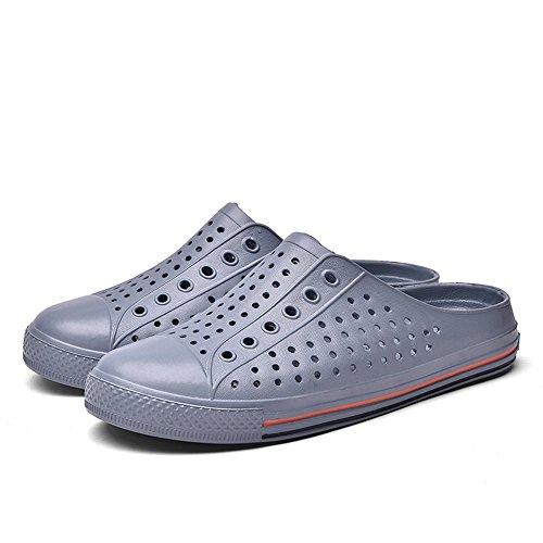 Shoes Slip Summer Wenquan Les Les Femmes 2018 Gris Talon sheos Mode Pantoufle la Hommes Mens Mules de sur Plat qBE7xw7At
