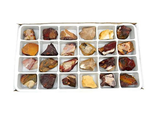 Crystals & Healing Stones Set - Premium Healing Crystals Gift Kit in Box - Chakra Set Natural Stones - Rustic Home Decorations Collection Mookaite