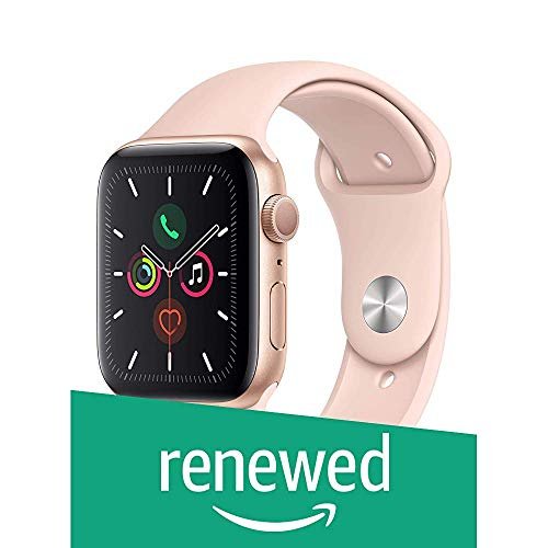 (Renewed) Apple Watch Series 5 (GPS, 44mm) - Gold Aluminium Case with Pink Sport Band (B07ZGMRLXR) Amazon Price History, Amazon Price Tracker