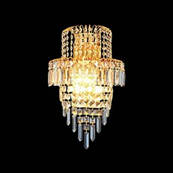 hua Lavish Wall Sconce Offers Stunning Statement with Strands of Crystal Beads
